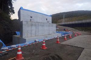 函館恵山線(B地-175)工事(繰越)外 A1橋台全景
