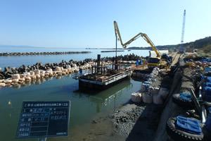 山越海岸老朽化対策工事1工区 施工イメージ