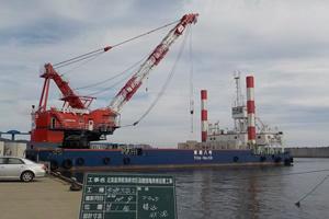北海道津軽海峡地区函館銭亀漁礁設置工事 ブロック運搬