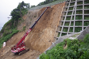 一般国道229号せたな町美谷防災工事 施工イメージ