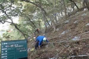 山背泊漁港地先 緊急予防治山工事 施工イメージ