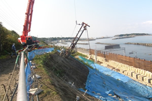 一般国道227号 江差町 愛宕改良工事 施工状況