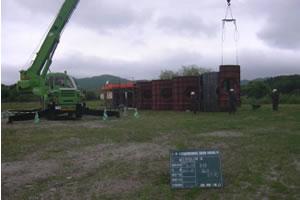 北海道津軽海峡地区函館銭亀魚礁設置工事 型枠組立状況