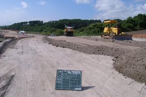 函館新外環状道路 函館市 石川南改良工事 路体盛土 層状転圧