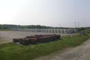 北海道津軽海峡地区函館銭亀魚礁設置工事(25補正) ブロック製作完了