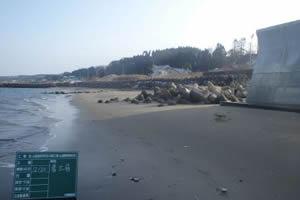 山越海岸老朽化対策工事(山越郵便局地先) 着工前