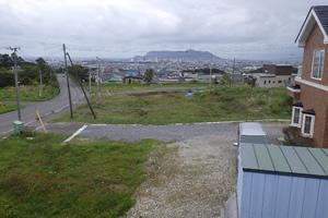 函館新外環状道路 函館市 墓園通跨道橋下部外一連工事 着工前