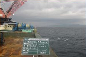北海道津軽海峡地区函館銭亀魚礁設置工事 施工イメージ