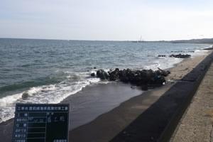 度杭崎海岸高潮対策工事 着工前