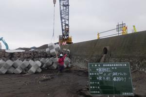 度杭崎海岸高潮対策工事 施工イメージ