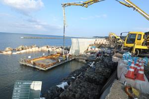山越海岸老朽化対策工事 施工イメージ