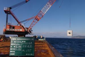 北海道津軽海峡地区函館銭亀魚礁設置工事(28補正) 施工イメージ