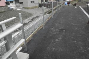 元村恵山線(B地-7-82)工事(補正明許外) 舗装(歩道部) 施工完了