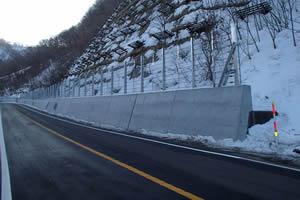 函館南茅部線(B地-458)工事1工区 落石防護柵施工完了