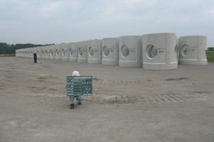 北海道津軽海峡地区函館銭亀魚礁設置工事(24補正)  ブロック製作完了
