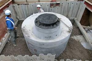西部第4排水区下水暗渠新設工事 マンホール設置完了