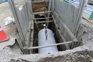 西部第4排水区下水暗渠新設工事 本管 布設状況
