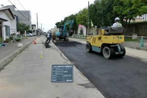 西部第4排水区下水暗渠新設工事 舗装 復旧状況