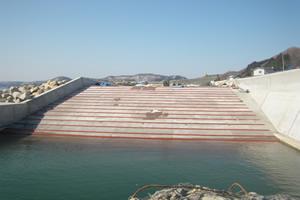 元村恵山線(B地-7-82)工事(補正明許外) 船揚場 施工完了