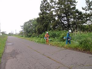 函館市立銭亀沢中学校 環境整備ボランティア