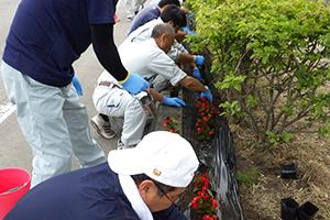 函館ウェルカム・ロード 道道函館空港線植栽活動