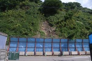 一般国道 229号 乙部町 豊浜災害防除外一連工事 豊浜工区 着工前