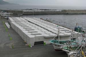 日浦漁港地域水産基盤整備工事(補正)外(繰越) 本工事01 本体ブロック製作完了