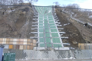 一般国道 229号 乙部町 豊浜災害防除外一連工事 豊浜工区 完成