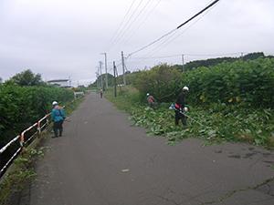 函館市立銭亀沢中学校 環境設備ボランティア