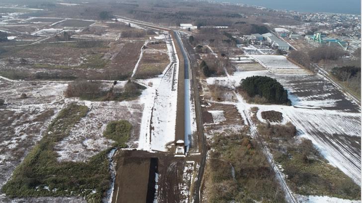 駒ヶ岳火山砂防工事(掛澗度杭崎地区)2工区 完成