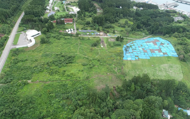 史跡垣ノ島遺跡保存設備工事 着工前