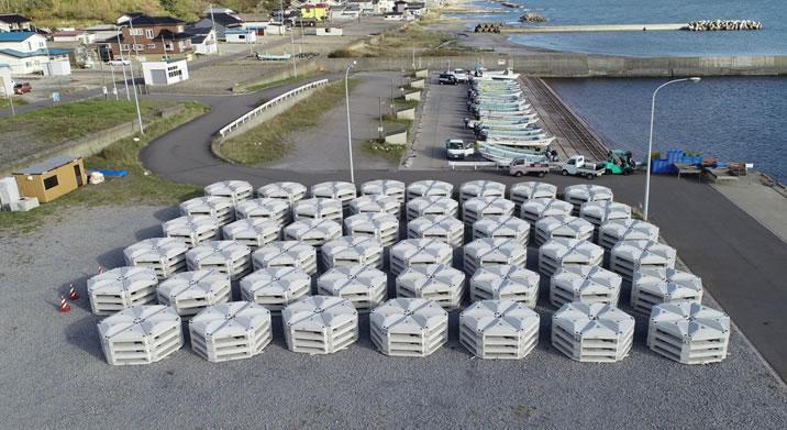 北海道津軽海峡地区小安東部増殖場造成工事 ブロック完了