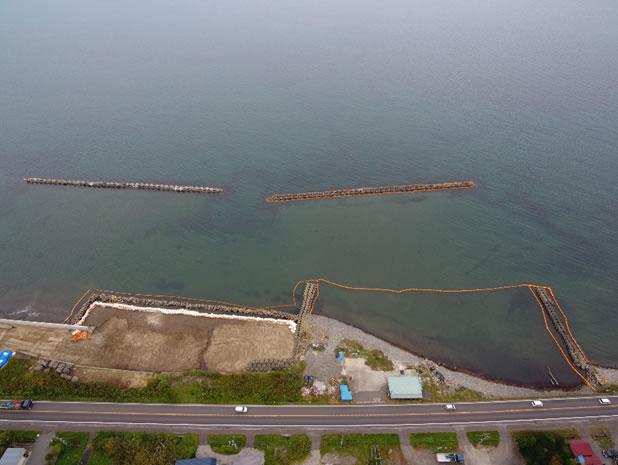 山越海岸老朽化対策工事2工区 施工イメージ