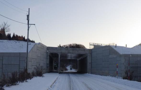 函館新外環状道路 函館市 赤川改良工事 着工前