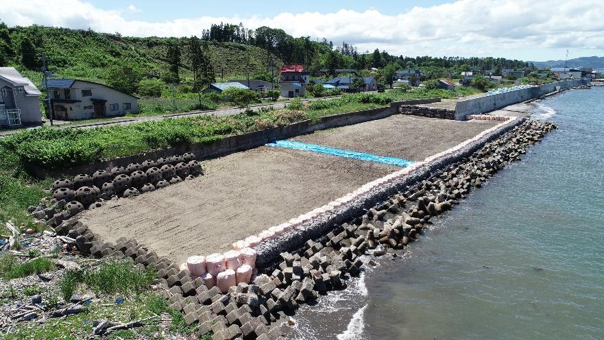 山越海岸老朽化対策工事(繰越)外 完成