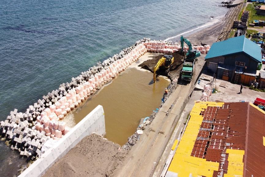 度杭崎海岸高潮対策工事(補正明許) 基礎工